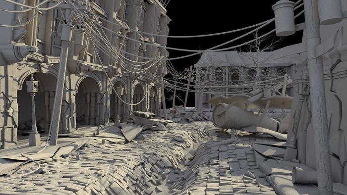 3D Environment Scene  CGTrader