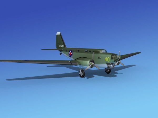 Douglas -18a Bolo V06 3d Model Rigged Max Obj 3ds Lwo Lw Lws Stl 3dm