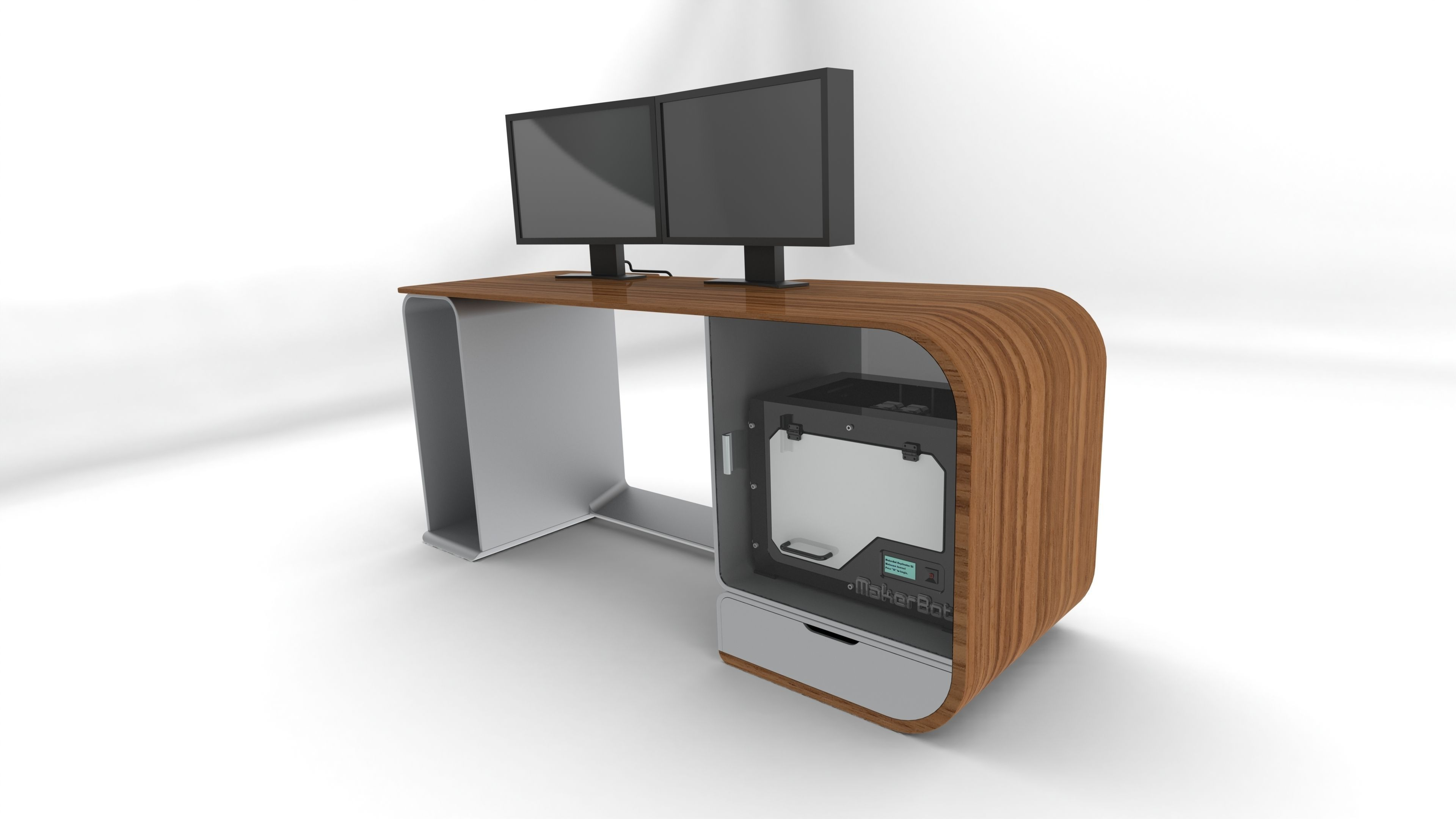 Future Desk free 3D Model IGE IGS IGES  CGTradercom