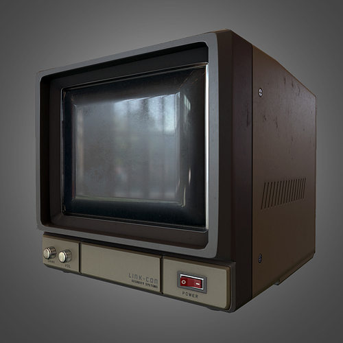 3D Asset CCTV Monitor CGTrader