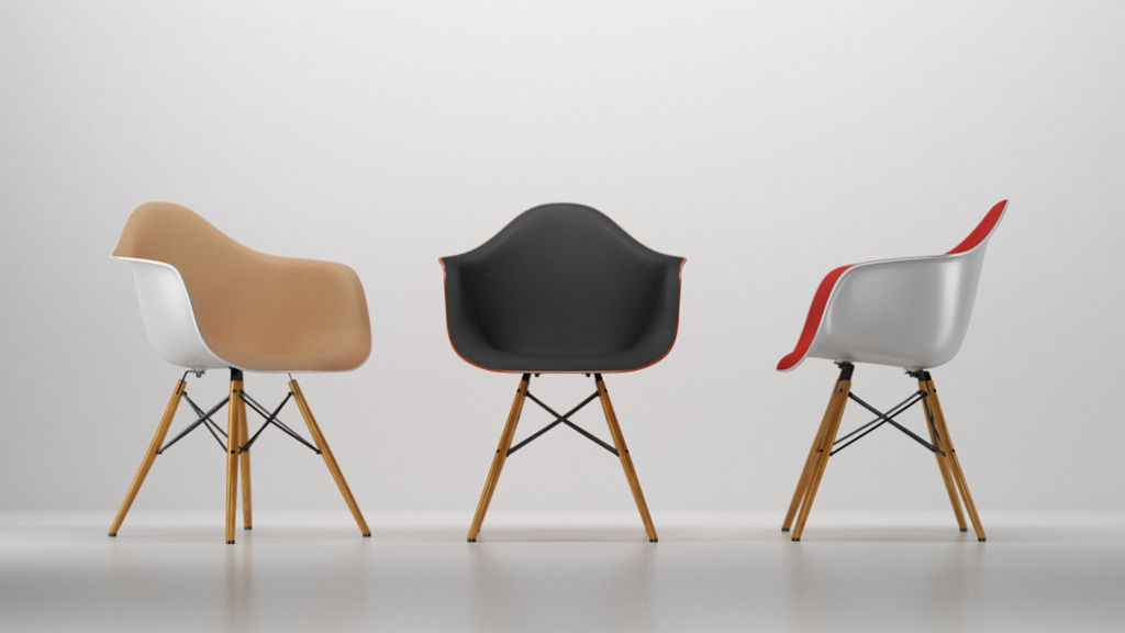 eames arm chair parson chairs slipcovers patterns vitra plastic armchair 3d cgtrader model c4d