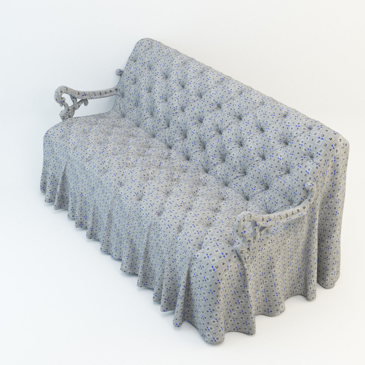 wedding sofa white slipcovered sleeper ikea 3d model max obj cgtrader