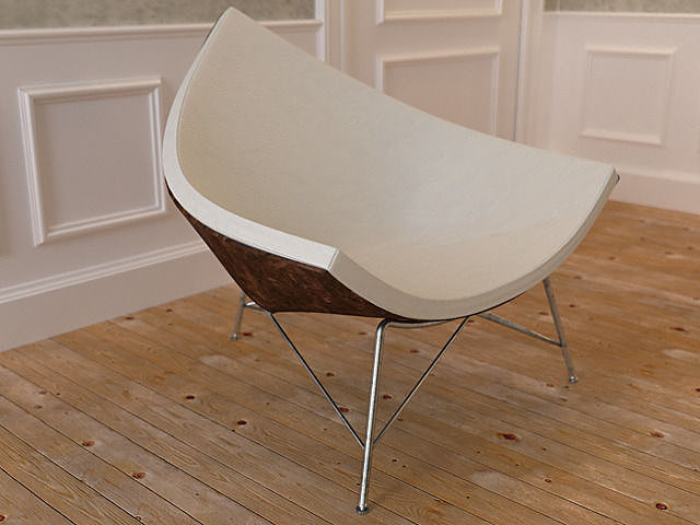 Coconut Chair 3D model  CGTrader
