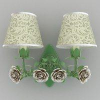 Green sconce with roses 3D Model MAX OBJ 3DS FBX MTL