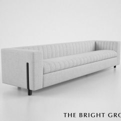 Bright Sofa Crate And Barrel Lounge 83 The Group Gray 3d Cgtrader Model Max Obj Mtl 3ds Fbx 1