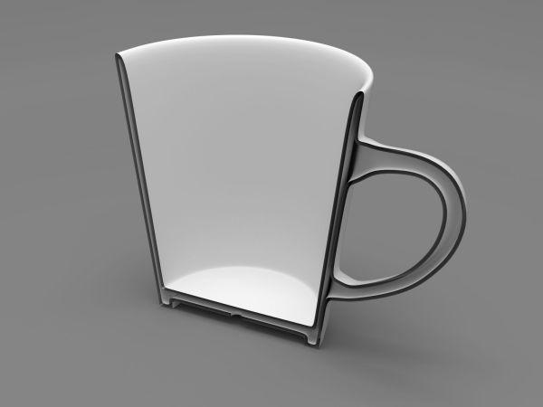 Cup Handle 3d Model Printable Stl - Year of Clean Water