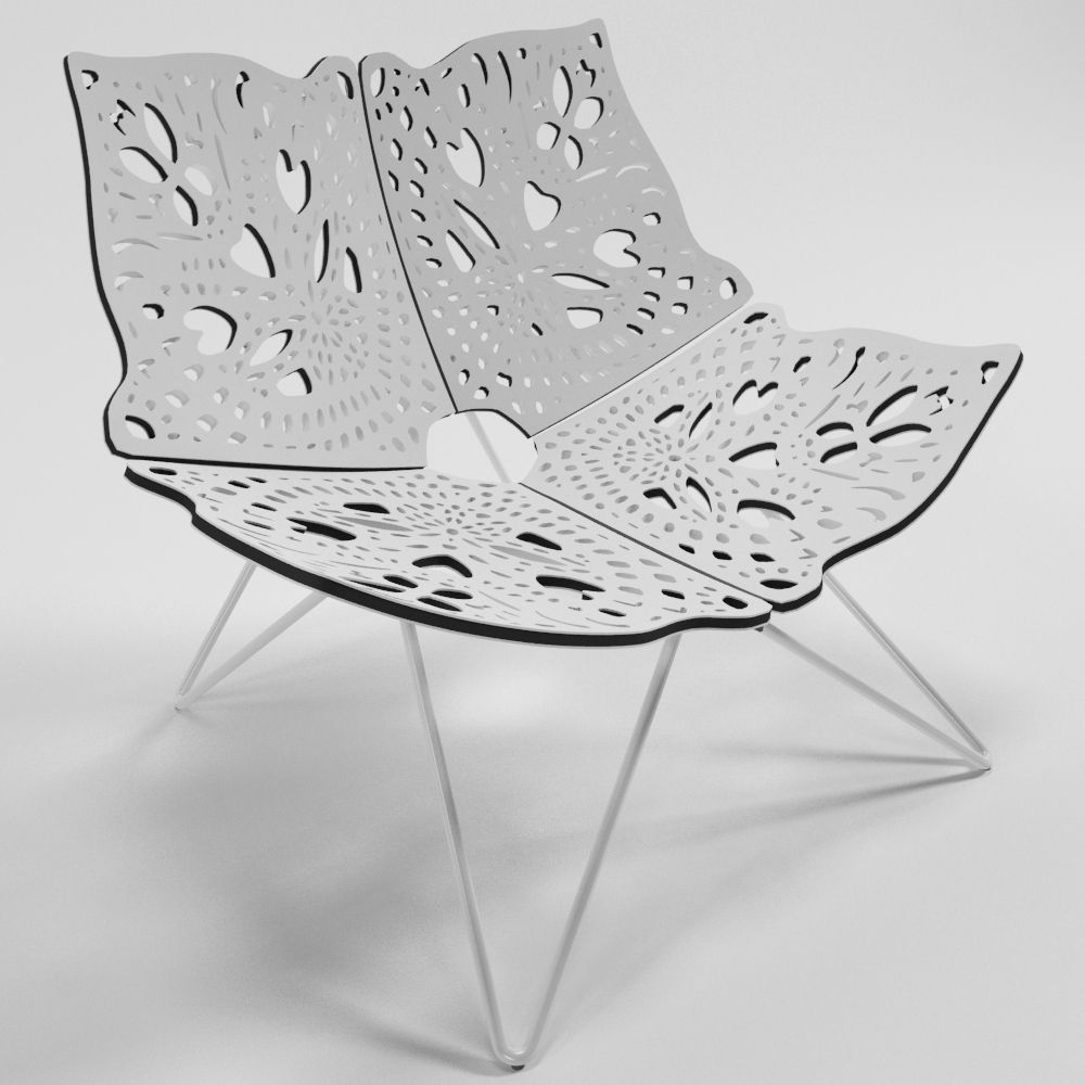 Prince Chair by Louise Campbell 3D Model MAX OBJ 3DS FBX