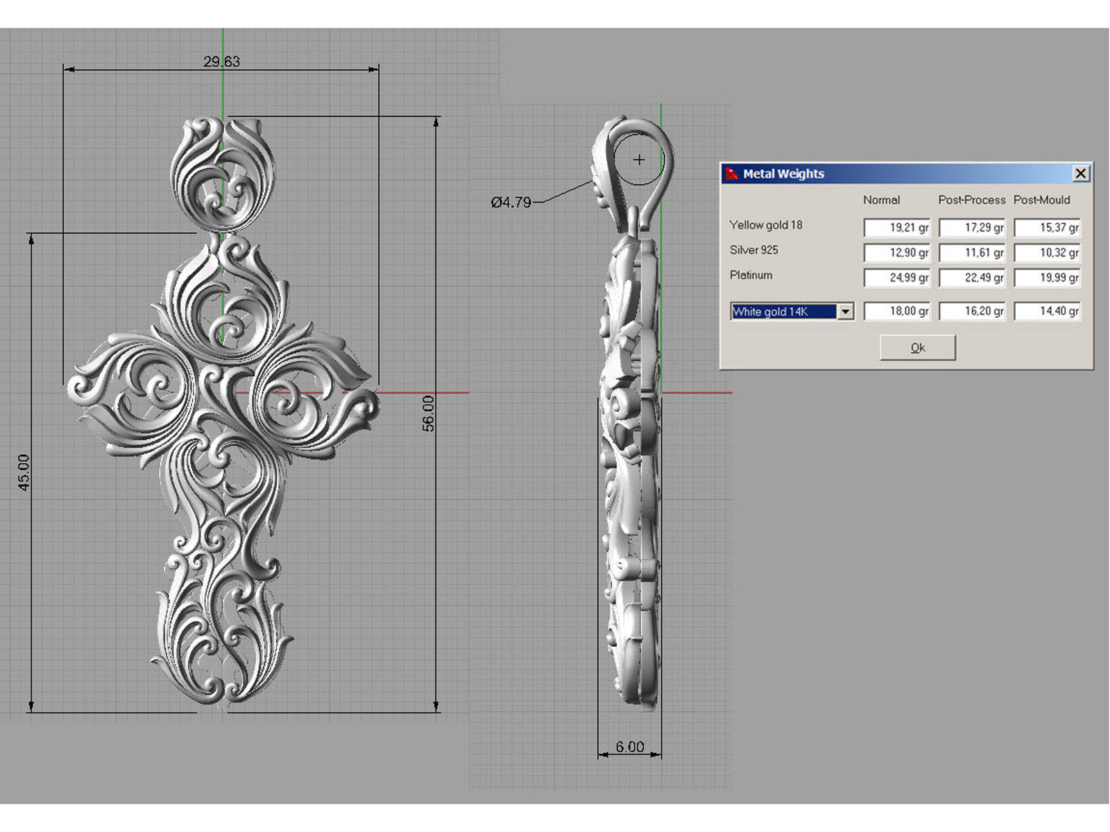 Stylized Cross 3d Model 3d Printable Obj Fbx Ma Mb