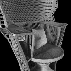 Fan Back Wicker Chair Gasser Company Rattan Peacock Vin 3d Model Max