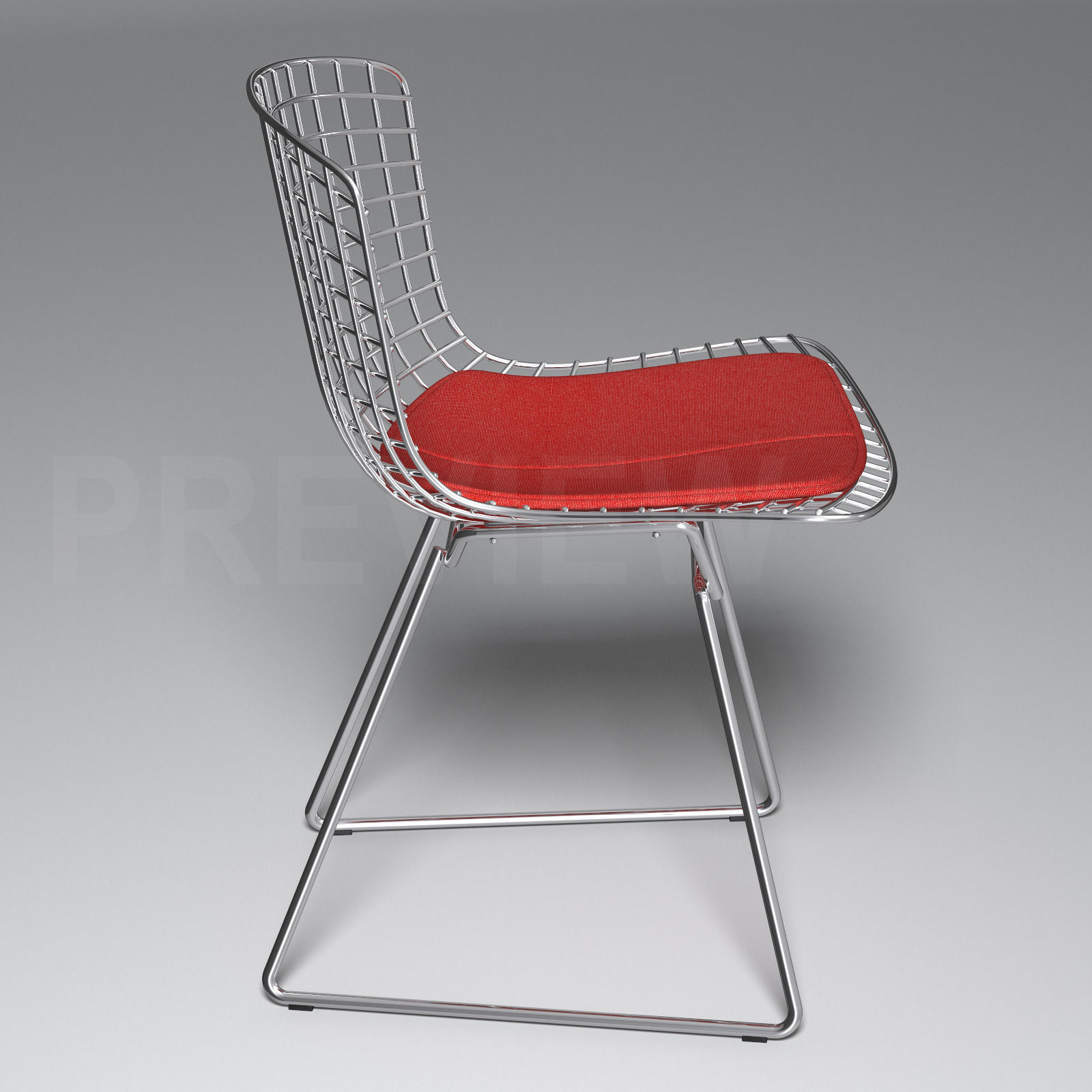 bertoia side chair diy covers dining room knoll 3d model max obj fbx cgtrader