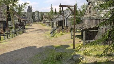 medieval fantasy town 3d poly low vr ar c4d fbx obj cgtrader max games virtual