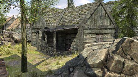 fantasy medieval town 3d low poly vr ar cgtrader fbx obj c4d max