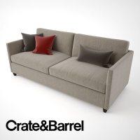 3D Crate and Barrel Dryden Apartment Sofa | CGTrader