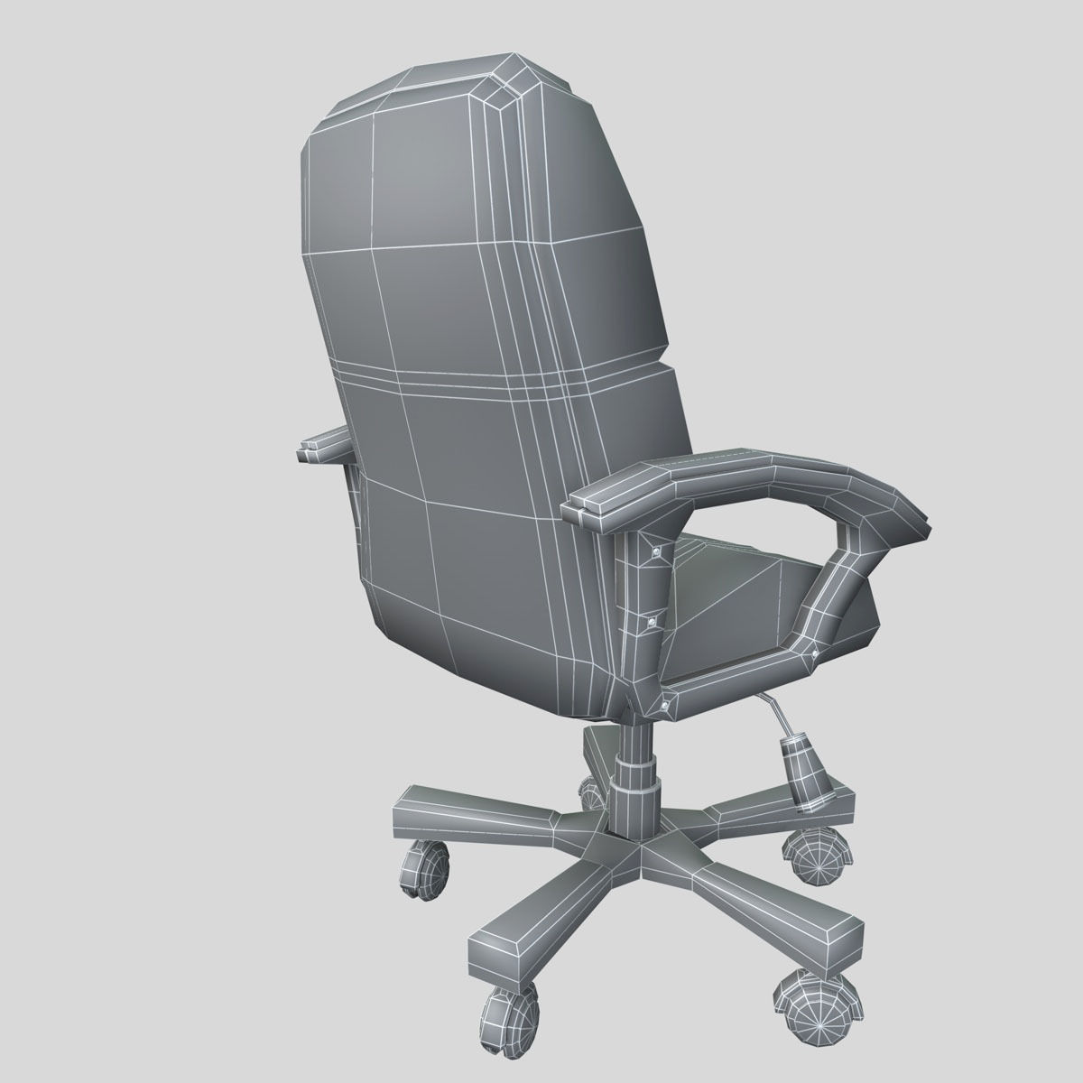 chair on wheels hanging ebay uk office 3d model obj 3ds fbx c4d cgtrader