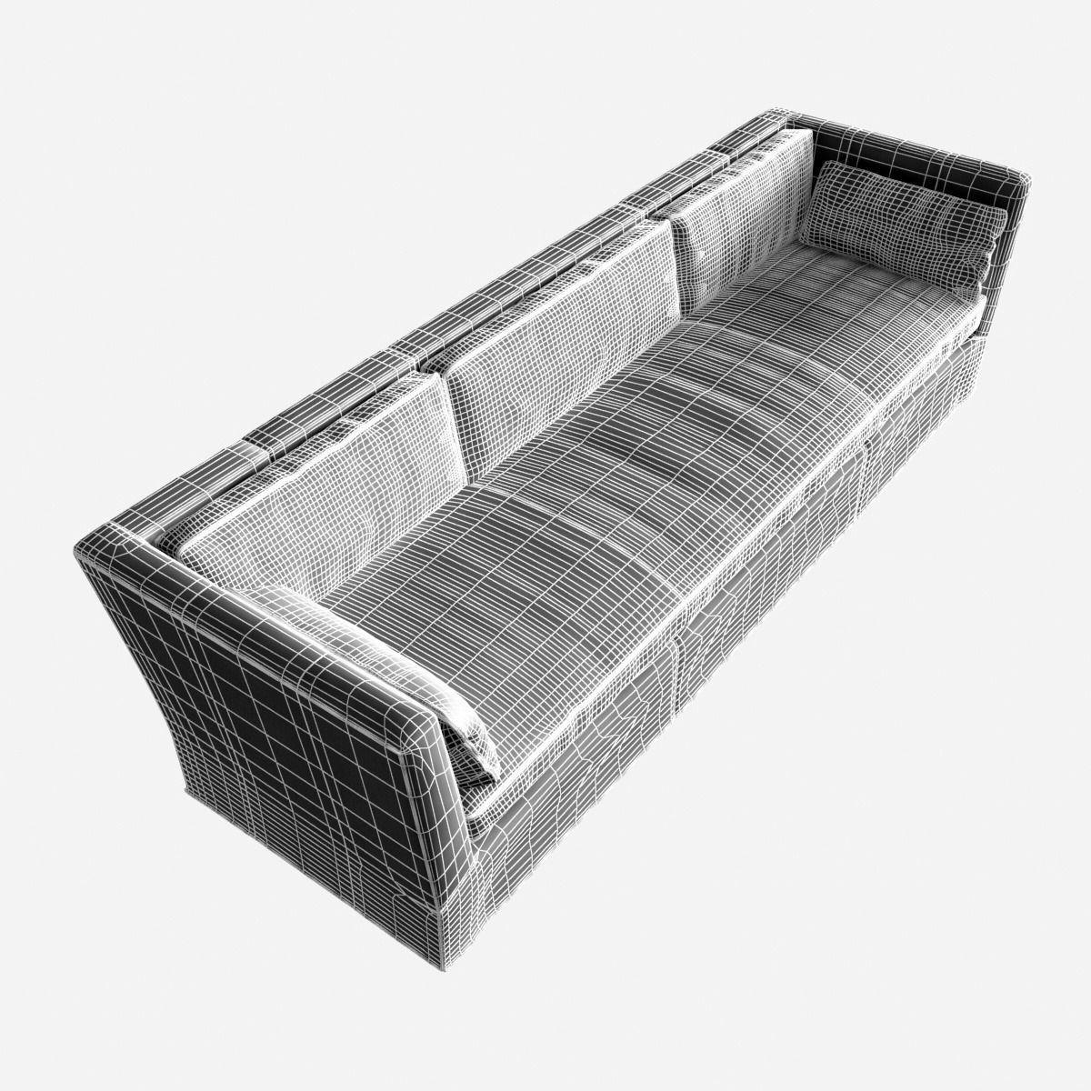belgian shelter arm sofa grey 3 seater dfs restoration hardware leather 3d