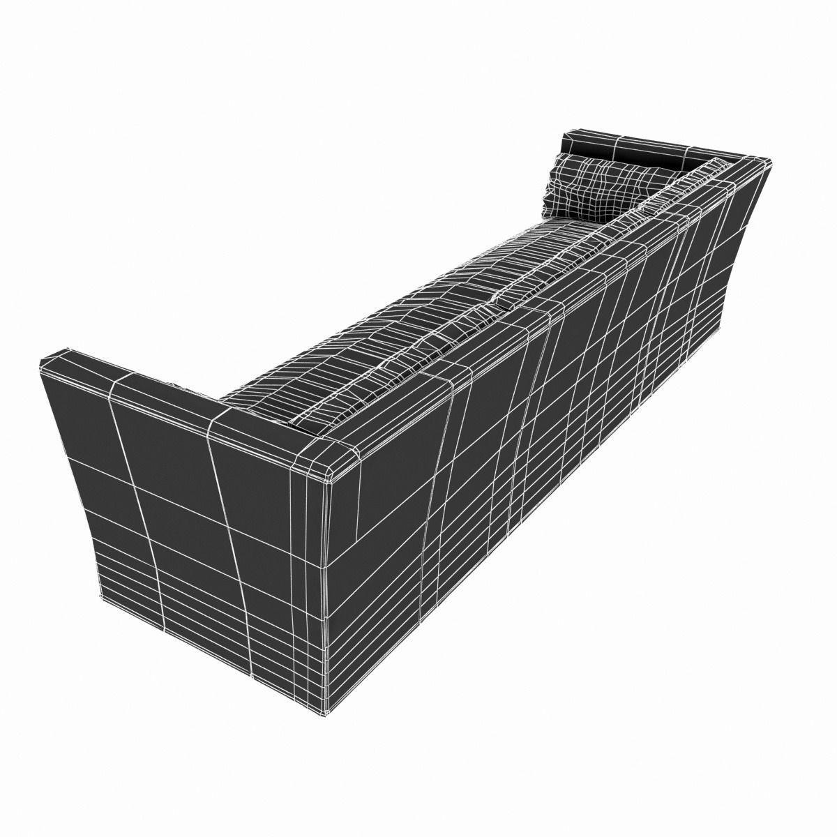 belgian shelter arm sofa backless daybed restoration hardware l 3d model max