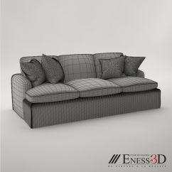 Baker Furniture Max Sofa Green Leather Chesterfield Pro 2496 3d Model Obj Fbx Mtl Cgtrader