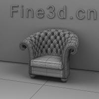Fancy Red Armchair 3D Model MAX OBJ 3DS | CGTrader.com