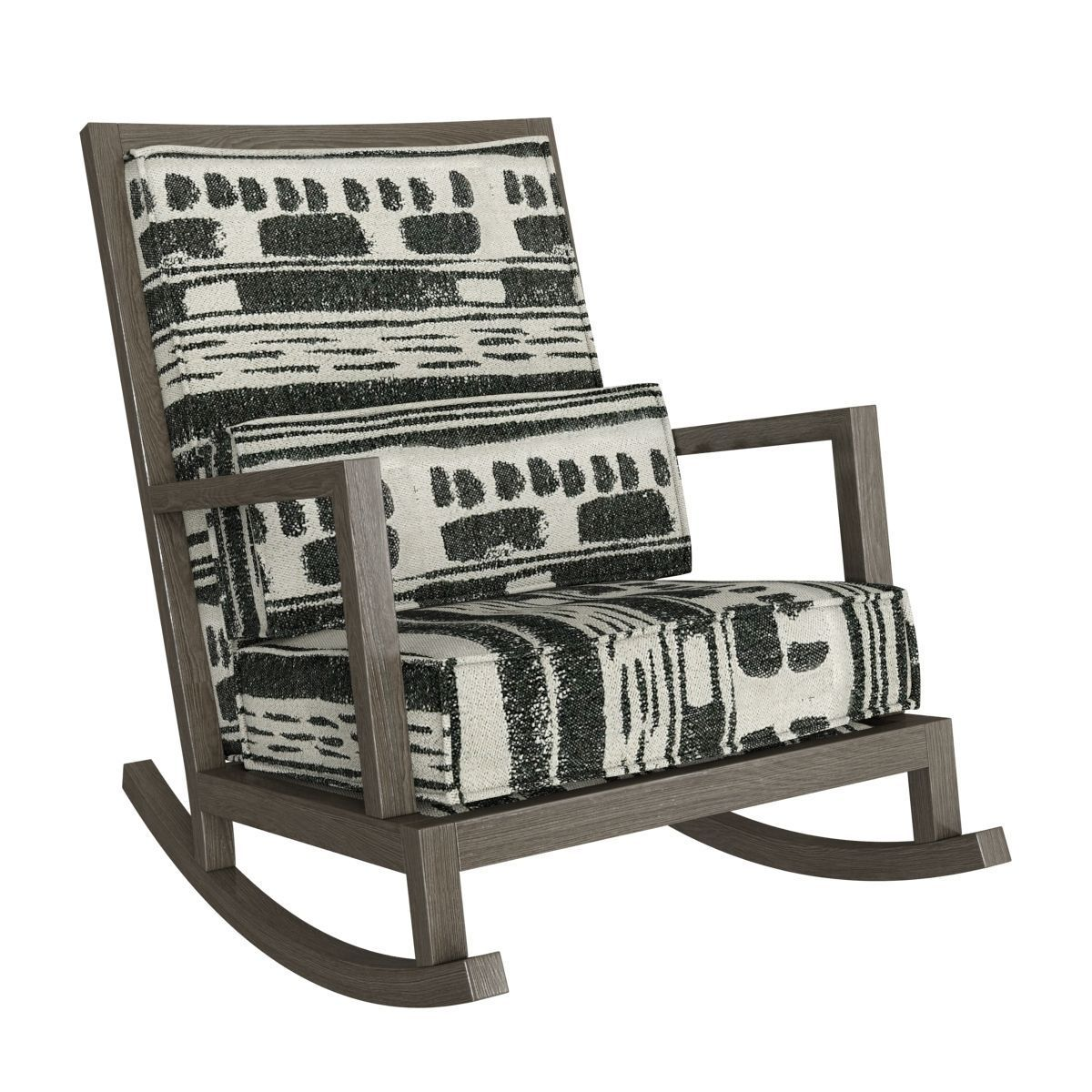 Crate And Barrel Rocking Chair Crate And Barrel Jeremiah Fabric Back Rocking Chair 3d Model