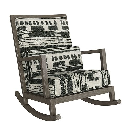 crate and barrel rocking chair floor amazon jeremiah fabric back 3d model max obj mtl fbx