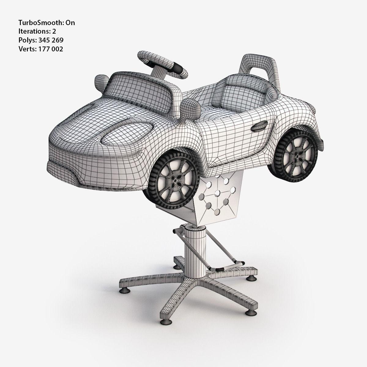 kids car barber chair macrame swing nz 3d model children electric ride on vr