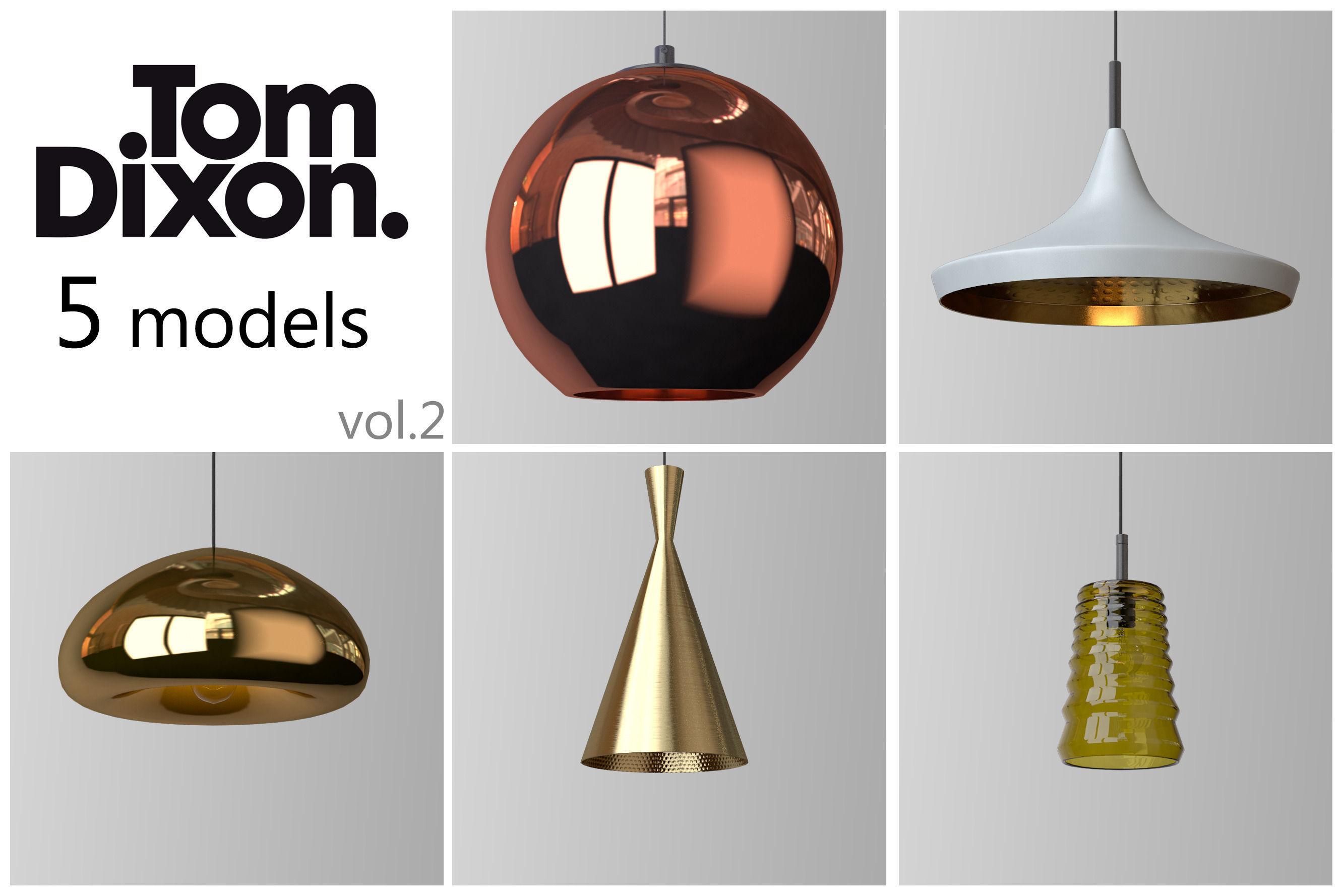 tom dixon lighting set 2 3d model