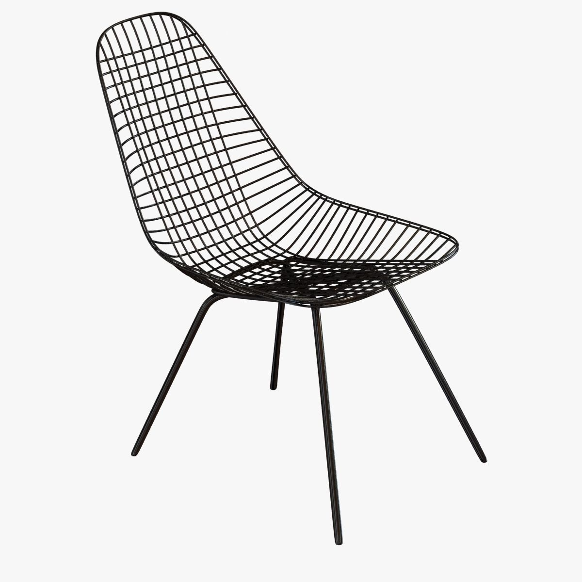 Eames Wire Chair Classic Eames Dkx Wire Side Chair 3d Model