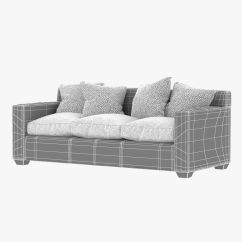 Jean Michel Frank Style Sofa Henry Sleeper West Elm Tight Back 3d Model Max Obj Fbx