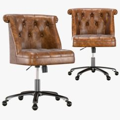 Tufted Desk Chair Eiffel Wood Legs Treviso 3d Cgtrader Model