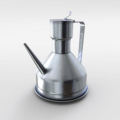 oil dispenser kitchen sink undermount accesories aluminium 3d cgtrader