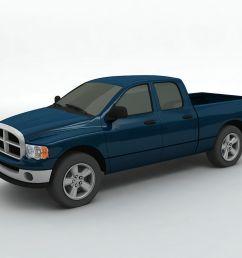 2004 dodge ram 1500 pickup quad cab 3d model [ 1024 x 768 Pixel ]