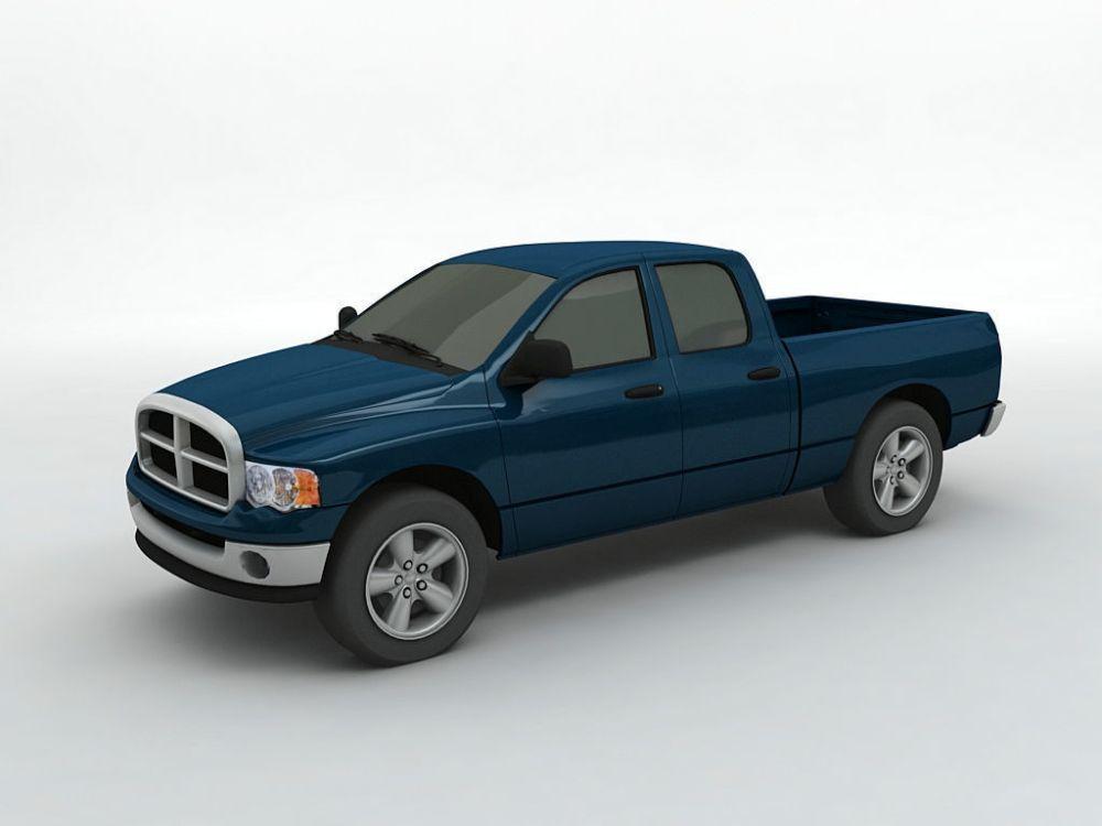 medium resolution of 2004 dodge ram 1500 pickup quad cab 3d model