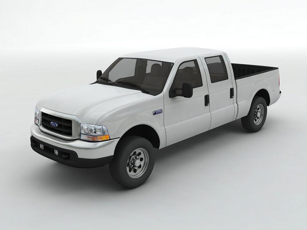 medium resolution of 2002 ford f 250 crew cab pickup 3d model