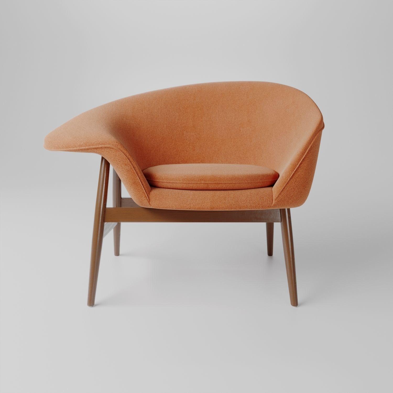 fried egg chair velvet and a half 3d hans olsen lounge model cgtrader