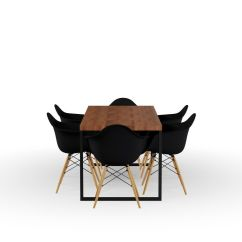 Black Eames Chair Design Lounge 3d Model Rustic Table And Cgtrader
