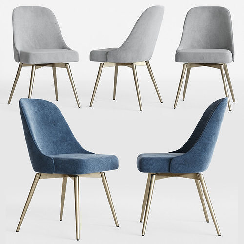 swivel chair west elm gaiam classic balance ball office bentwood alys 3d midcentury westelm cgtrader