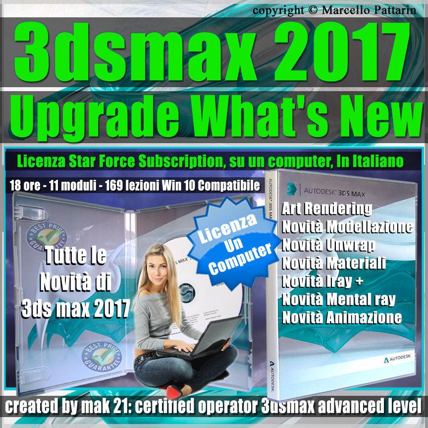 Corso 3ds max 2017 Upgrade What New un
