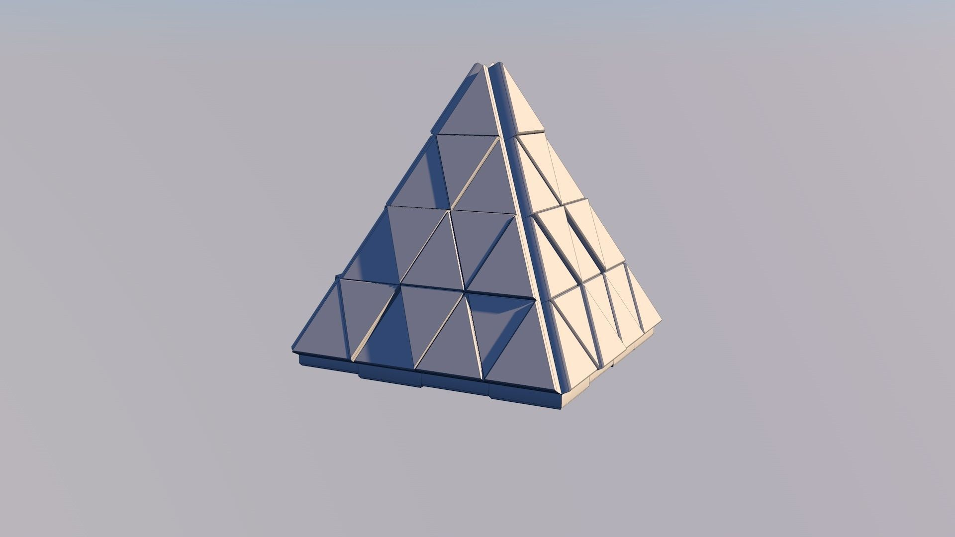 Sci Fi Pyramid Shape Triangle Low Poly 3d Model