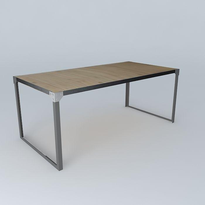 dining table docks maisons du monde 3d model