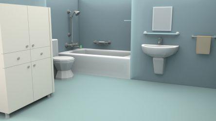3D asset Cartoon Bathroom CGTrader