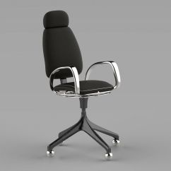 Office Chair 3d Model Oversized Bean Bag Chairs Ikea Exrcutive Free Stp Cgtrader