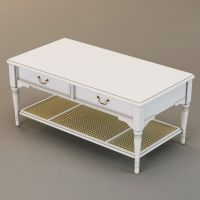 Laura Ashley coffee table 3D Model MAX OBJ 3DS FBX