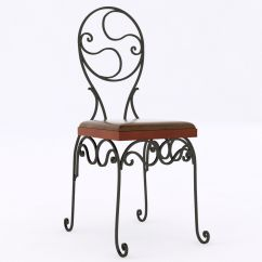 Wrought Iron Chair Children S Reclining Leather 3d Model Cgtrader