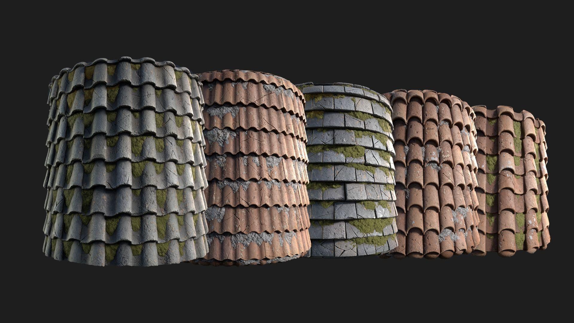 pbr roof tile generator texture