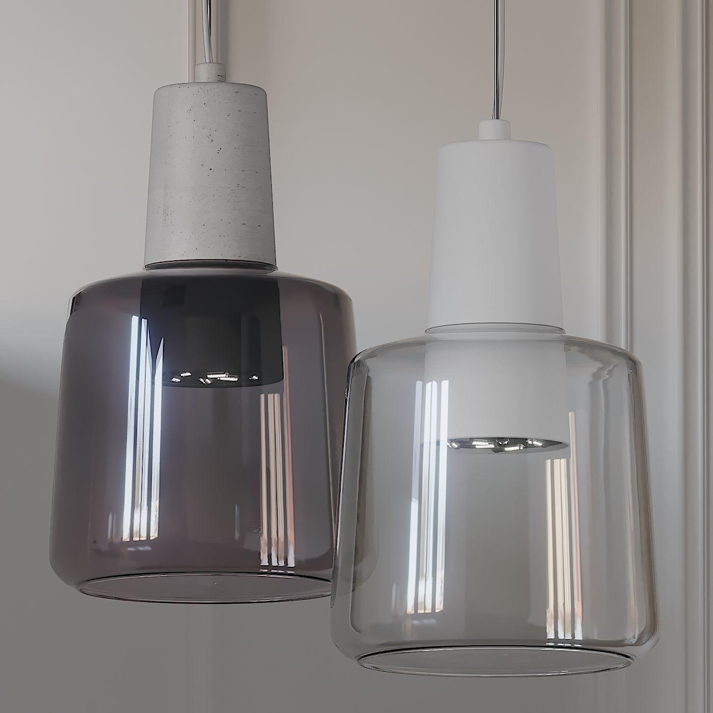 samson led mini pendant light by kuzco lighting 3d model
