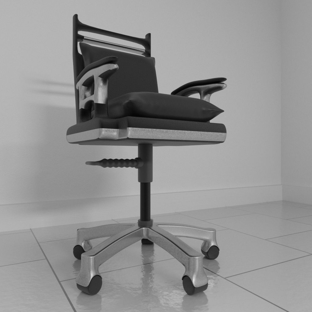 revolving chair parts hyderabad daycare table and chairs rotating 1 3d model blend cgtrader