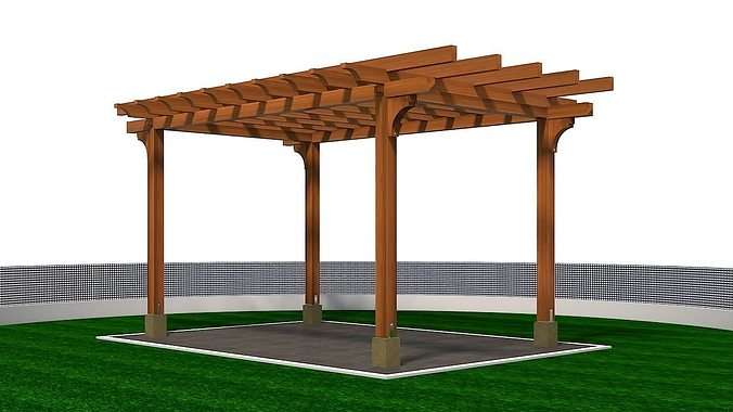 Other 3d Model Wooden Pergola Cgtrader