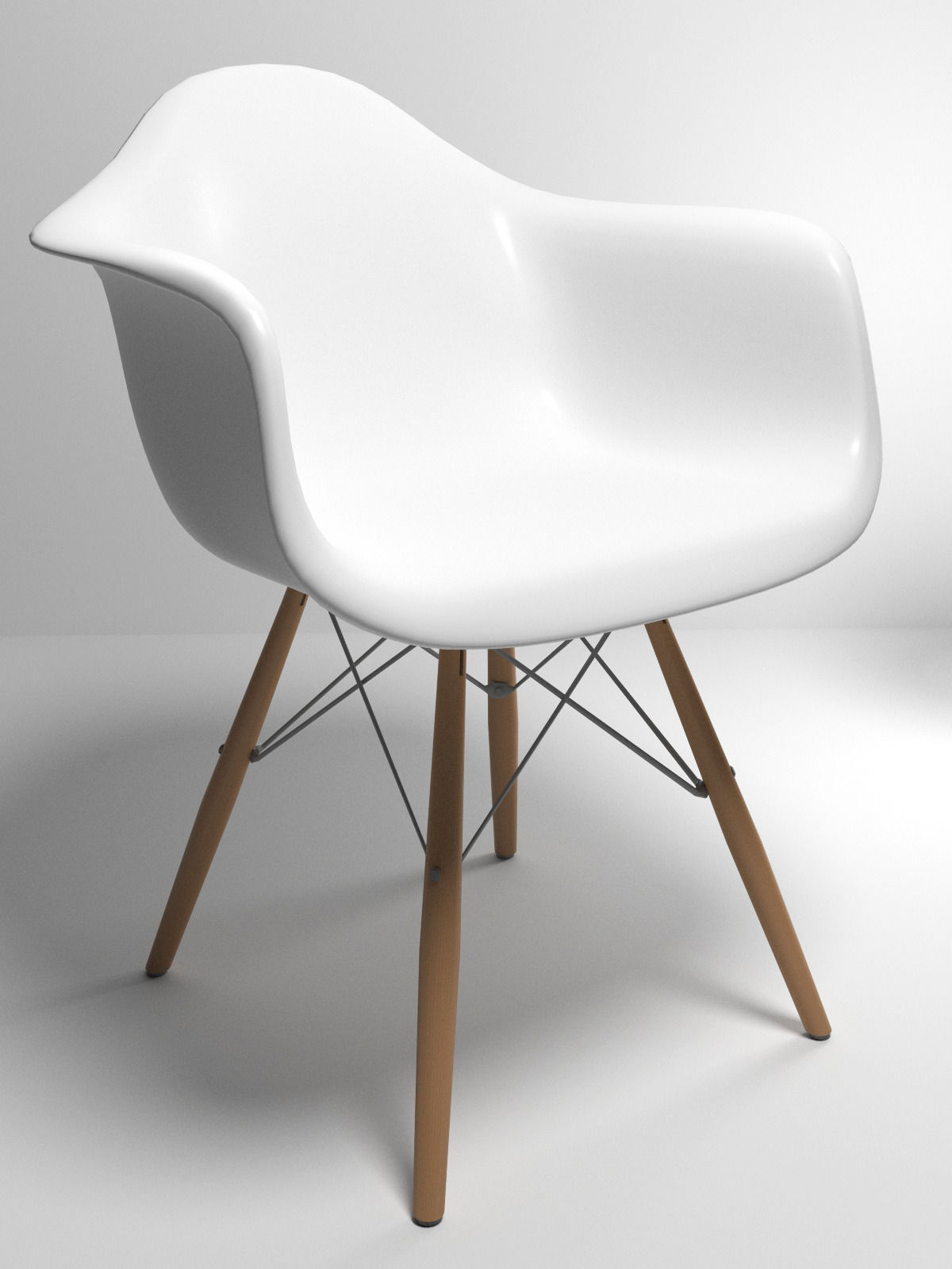 eames style plastic chair hanging egg queensland 3d molded cgtrader model max obj mtl 3ds fbx stl 1