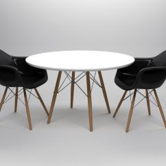 Table Chair Set Mat For Hardwood 3d Model Eames And Chairs Cgtrader