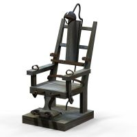 3D model electric chair VR / AR / low-poly FBX MA MB ...